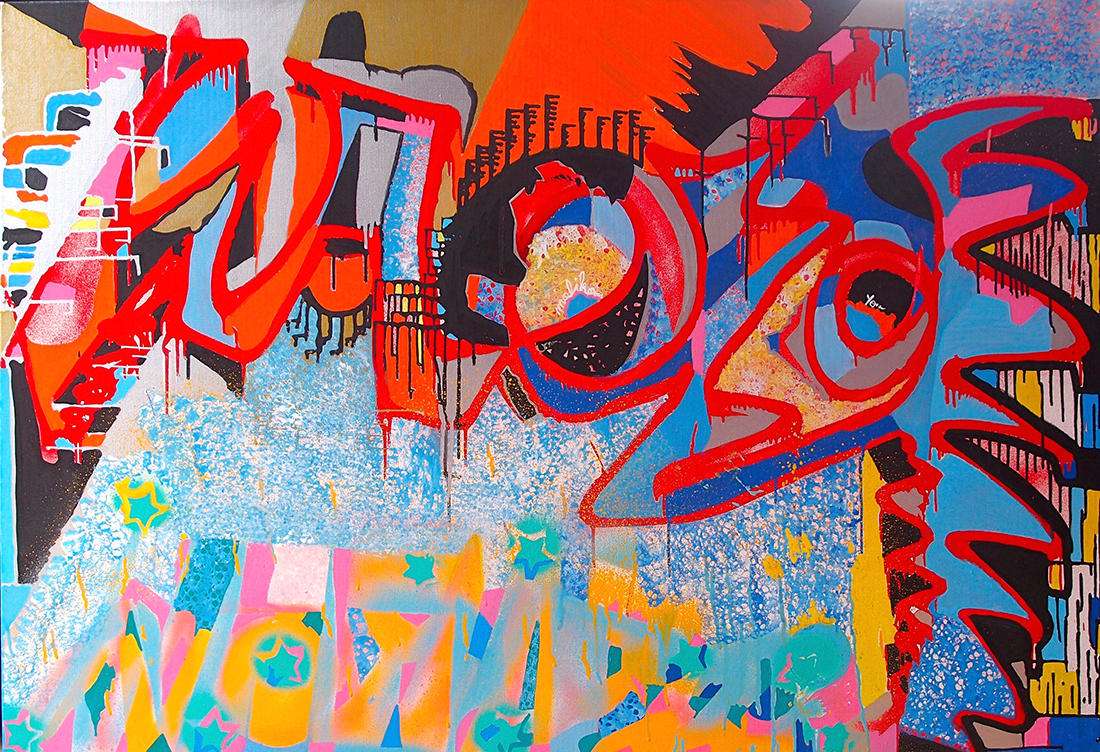 Magic wand - 130x89cm peinture graffiti art tag 2016 - Dimension Fantasmic