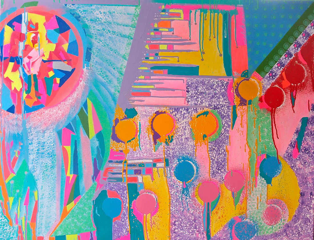 Pearls of youth - 116 x 89 cm peinture graffiti art tag 2016 - Dimension Fantasmic