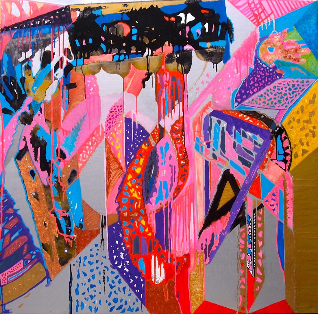 Musical note 5 - 100x100cm peinture graffiti art tag 2013 - Dimension Fantasmic