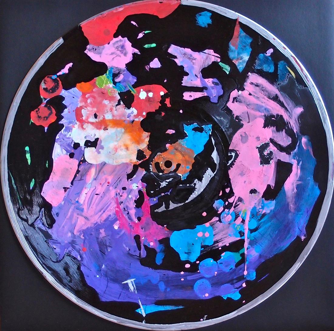 Outer space VIII - 33x33cm Graffiti art painting - Dimension Fantasmic
