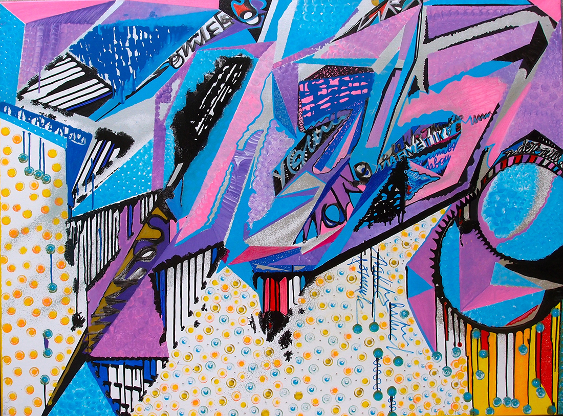Recipe for a magic potion - 97x130cm encre graffiti Art tag 2012 - Dimension Fantasmic
