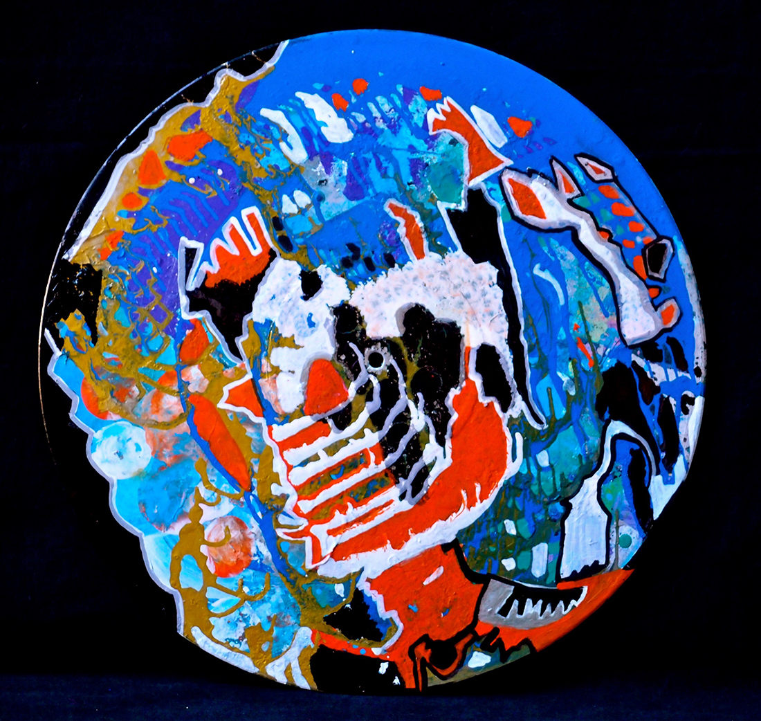 Outer space V - 33x33cmGraffiti art painting - Dimension Fantasmic