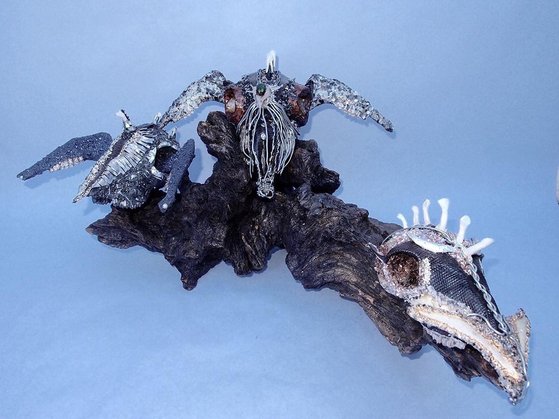 Meduz - Sculpture à partir d'un vrai crâne - Dimension Fantasmic