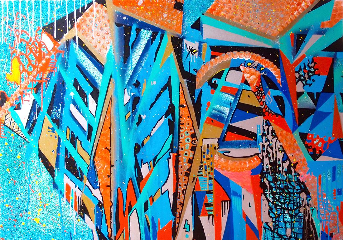 Eclipse - 130x96cm peinture graffiti art tag 2014 - Dimension Fantasmic