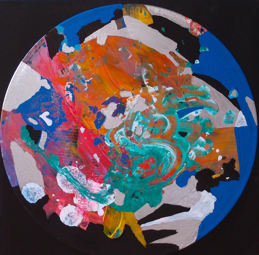 Outer space I - 33x33cm Graffiti art painting - Dimension Fantasmic