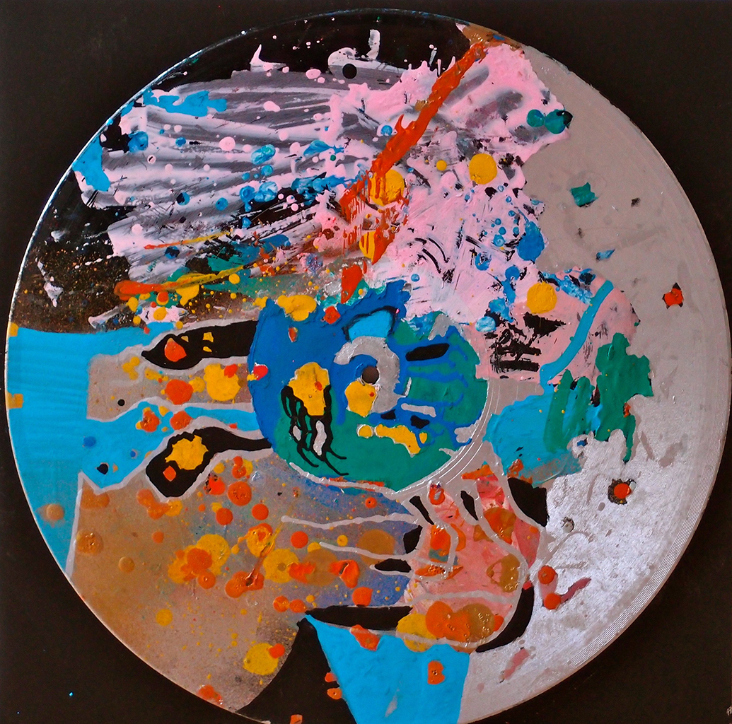 Outer space XIII - 33x33cm Graffiti art painting - Dimension Fantasmic