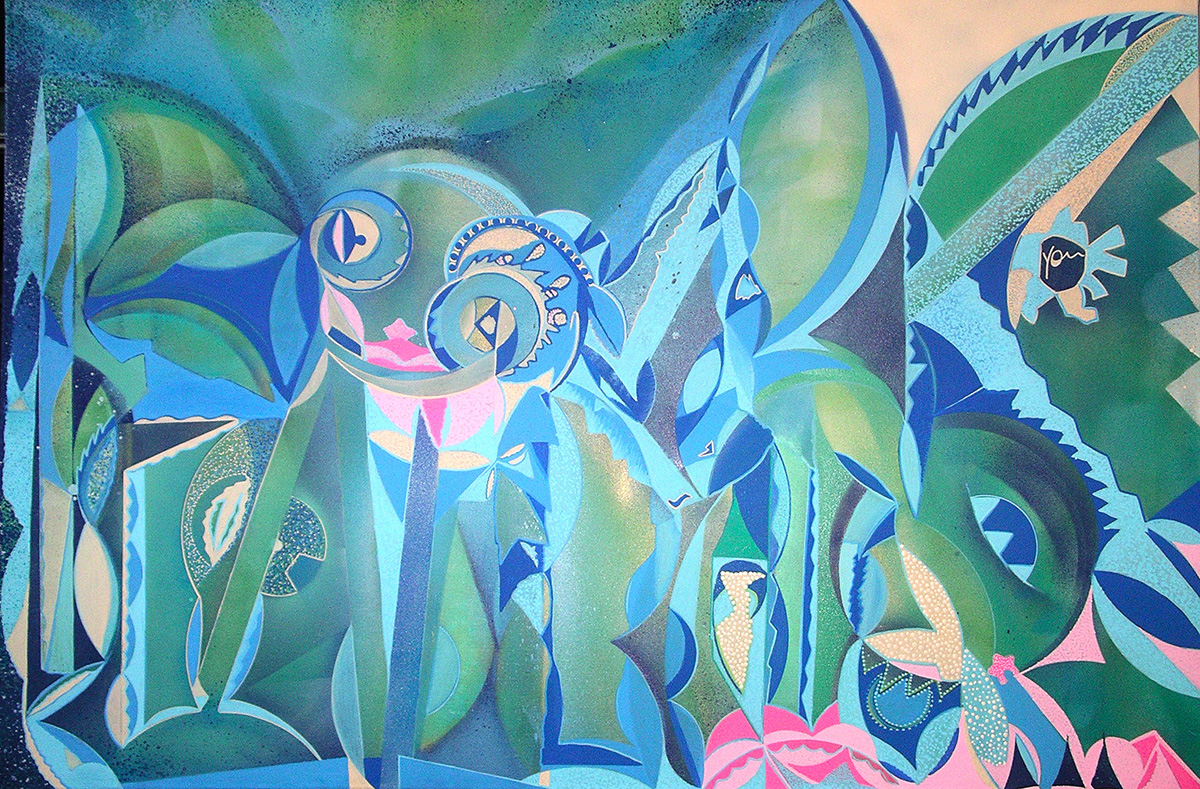 A mind's journey over the seas and lagoons - 97x147cm peinture aérosol art tag 2011 - Dimension Fantasmic