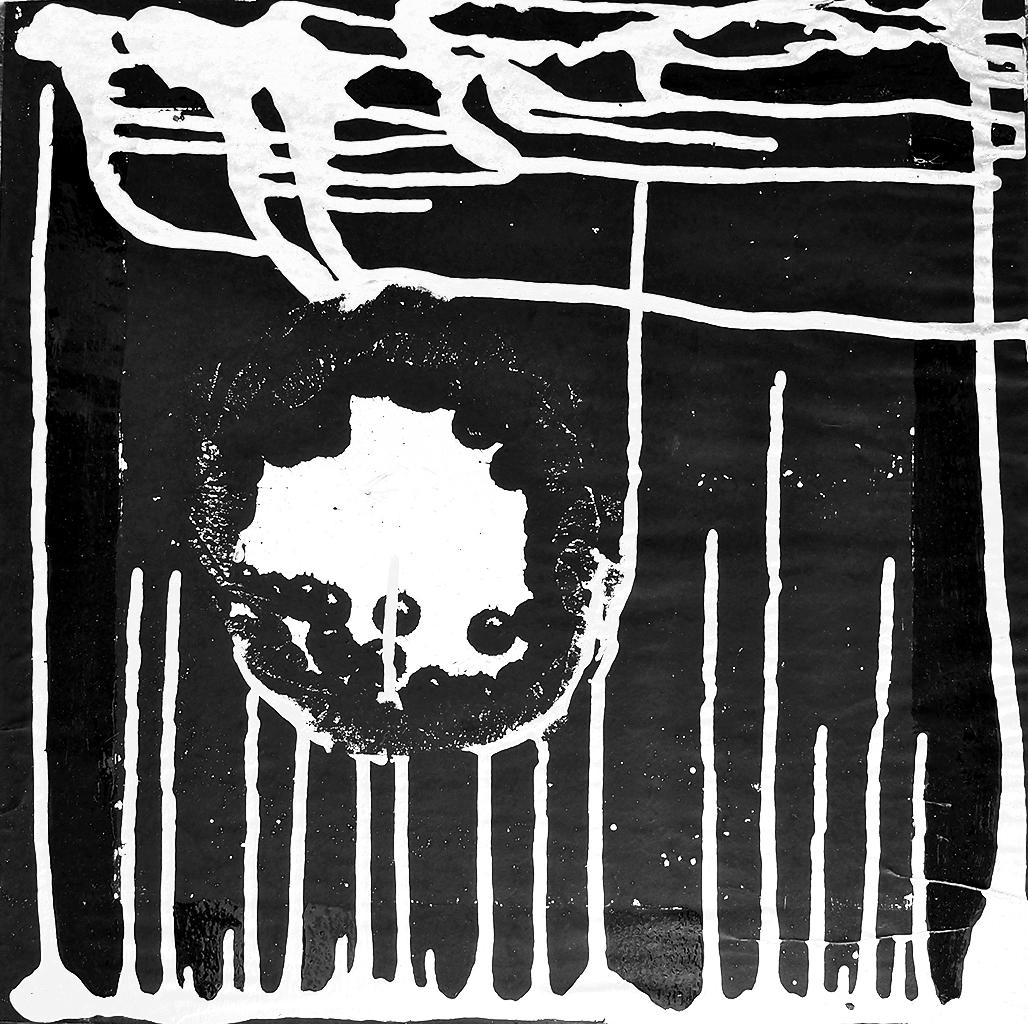 Outer space XIV - 33x33cm Graffiti art painting - Dimension Fantasmic